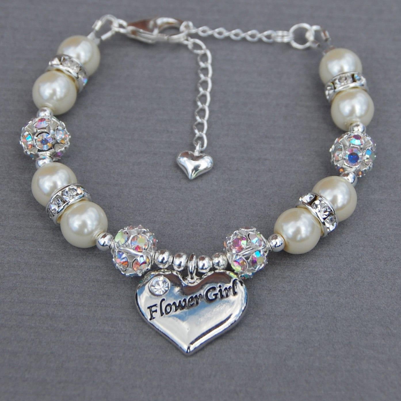 Flower girl Bracelet Girls Wedding Jewelry Gift for Flower