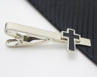 The Cross Tie Clip, Easter Day Accessories, Silver Accessories, Novelty Accessories, Gift For Man