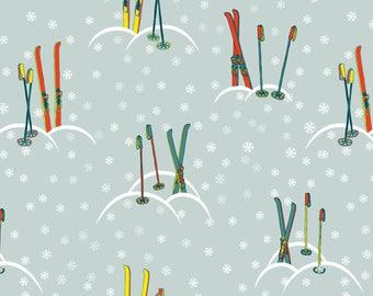 Fabric, RETRO, skiing, snow mountain