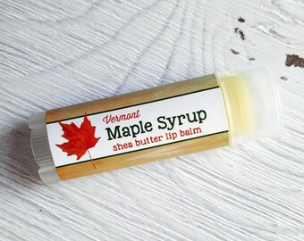 Maple Syrup Lip Balm - Shea Butter Lip Balm // Natural Lip Balm // Gifts // Favor //Retro/Stocking Stuffer