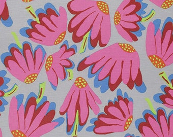 Lazy Daisy in Grey-- Brandon Mably for Westminster -- 1/2 Yard