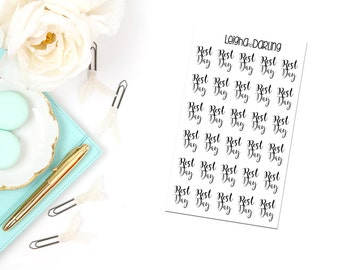 Rest Day Planner Stickers