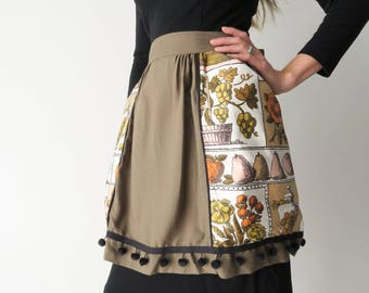 1950s Thanksgiving Apron / Vintage Holiday Hostess Apron