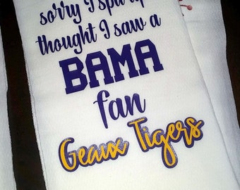 LSU baby spit up towel