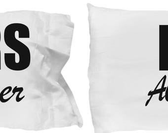 Couple Pillowcase ,Romantic Matching Gift Set, His Always  Hers Forever , For Boyfriend Girlfriend Husband Wife, Couples Fiancee Dating