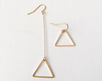 Triangle dangle earrings