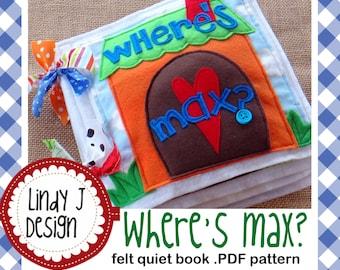Where's Max FELT Quiet BOOK .PDF Pattern