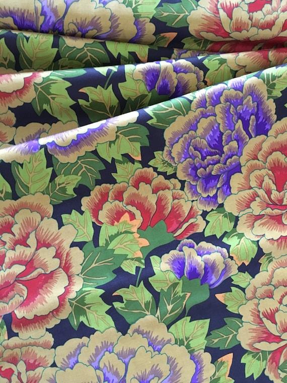 Kaffe Fassett Kimono by Rowan GP33 Rust/Purple 1 yard