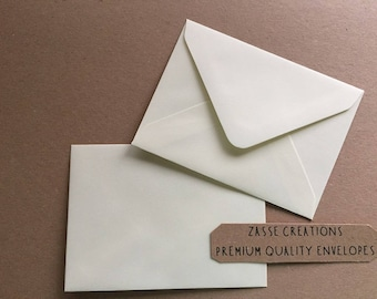 Cream Vanilla Ivory Premium Quality Envelopes 100gsm Greeting Cards/Craft/Wedding - Qty's 10 - 1000 & in 6 Different Sizes