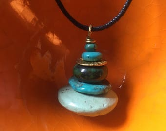Turquoise Cairn Pendant