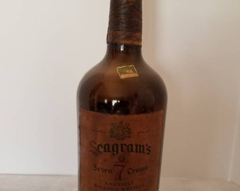 1964 Glass Magnum Seagrams 7 Crown Bottle.