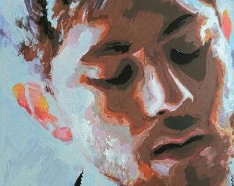 Acrylic portrait Sam Mctrusty from Twin Atlantic