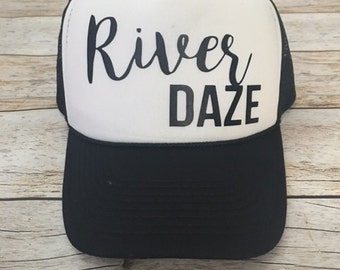 River Daze Trucker Hat Women's Trucker Hat Women's Hats River Trucker Hats Vacation Hat
