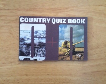 Country Quiz Book. 1970s Vintage British Countryside Book. Gift Idea for Nature Lovers