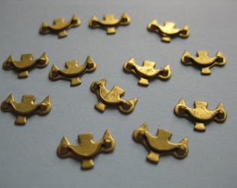 1/12th Scale Dolls' House Brass Drawer Handles - Pack of 12