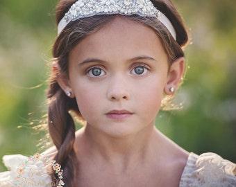 Rhinestone bridal headband wedding headband Flower Girl