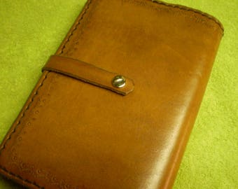 Ran Tan Journal Cover With Snap Closure