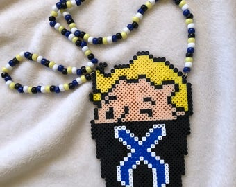 Fallout Excision Mask Perler Necklace