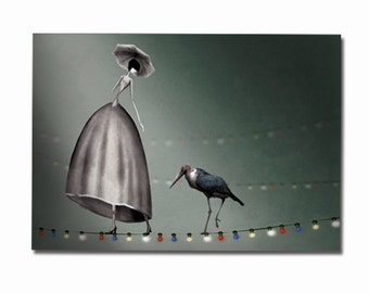 The marabou - 11x8 or 11x16,5 inches fine art print - Signed - Printed by a professional