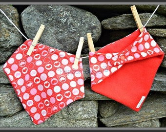 Red Hearts Bandanna Baby Bib