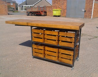 Industrial Rustic Shop Counter Home Drinks Bar Kitchen Island