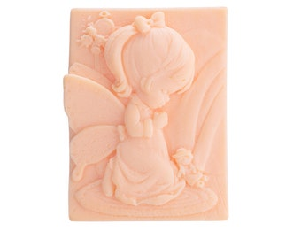 Natural goat's milk soap angel
