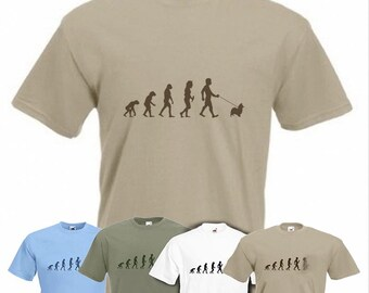 Evolution To Papillon t-shirt Funny Dog T-shirt in sizes Sm to 2XXL