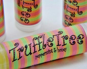 Lip Balm, Peppermint & Honey, Truffle Tree, Handmade and Organic ingredients