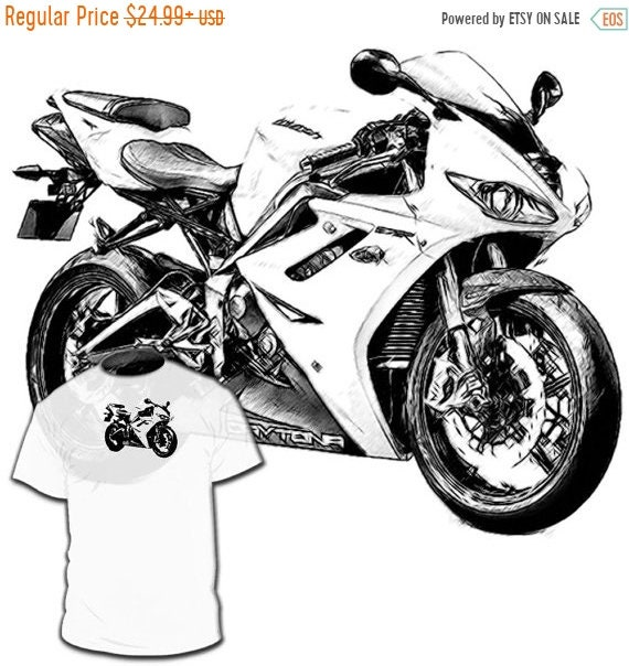 40% OFF SALE Triumph Daytona 675 R T shirt Thunderbird Sprint