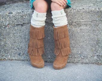 Knee High Boot Socks Cozy Socks Mothers Day Gift Idea Skirt Socks Dress Socks Women's Boot Socks Oatmeal Blend Socks