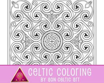 Manannan's Mandala - coloring page