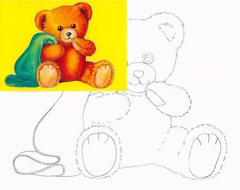 Teddy bear, Watercolor painting kit