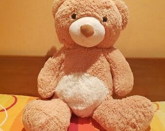 Teddy bear, Vintage teddy bear, Plush toy, Collectible bear, Stuffed teddy bear, Kids toy bear, Old nursery decor, Old joined toy