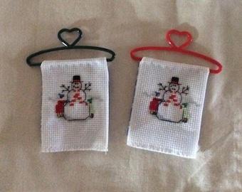 Counted Cross Stitch Snowmen Set