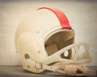 Vintage Football Helmet Boys Room Decor Fine Art Photography