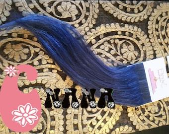 """Blue tape human hair Extensions hair extension, band European hair Extensions, 15 """", skin/glue"""