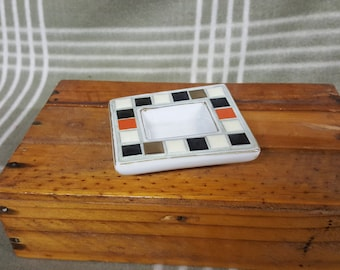 Vintage Art Trinket Dish/Ashtray. Modern Mosaic by Styson. Japan.