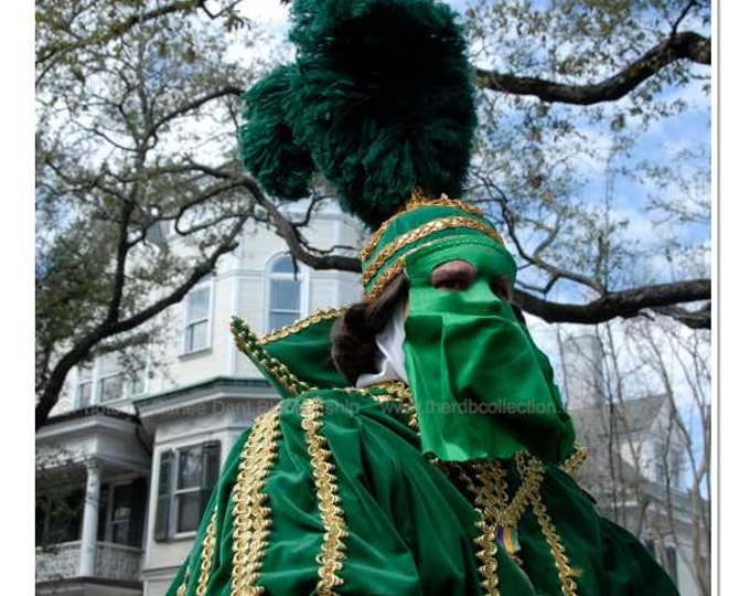Mardi Gras Masked Parade Rider Photograph