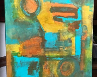 Original Abstract Painting by Jason Antonelli, Contemporary Art, Abstract Expressionism, Acrylic Paints, 16x20 inches