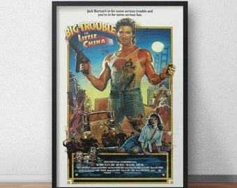 Big Trouble in Little China movie poster, Artwork, Fine print, Kurt Russell