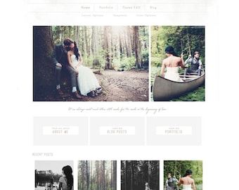 wordpress theme - fairlight - mobile responsive wordpress template with custom homepage and portfolio - INSTANT DOWNLOAD