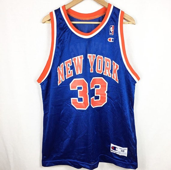 Vtg NEW Patick Ewing New York Knicks Champion Jersey Sz Men's 48 XL with Tags mSTXp1