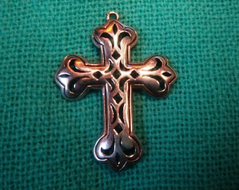 Pendant, Cross, Sterling Silver