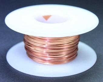 Copper Square Wire 20ga 0.81mm Soft (Approx. 60.5ft)  (CSW20)