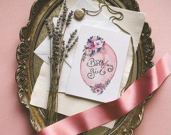 Birthday Girl, Greeting Card, Birthday Card, A6, Card, Envelope