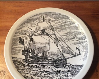 Vintage Wedgwood Barlaston Historic Canadian Vessels Nonsuch Ship Collector Plate