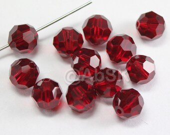 Swarovski Elements Crystal Beads 5000 6mm Round Ball Beads RUBY - Select Quantity