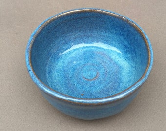 SMALL little blue bowl for prep work,  trinkets or serving, handmade, ceramic, pottery, ready to ship
