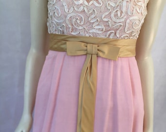 Cream and pink gown