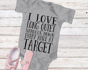 Baby Target Shirt | Infant Target Bodysuit | Funny Target Shirt | Girls Target Shirt | Little Girls Target T-Shirt